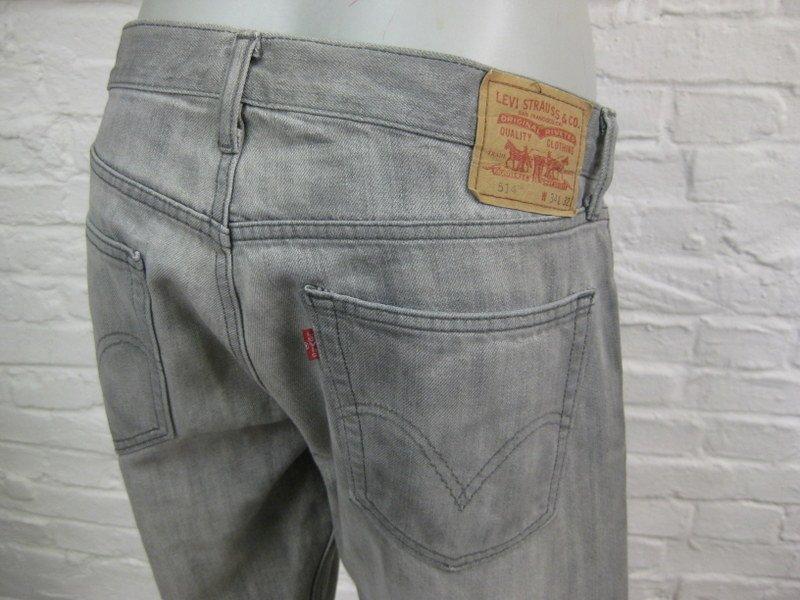 levis 514 slim straight coole herren jeans hose w34 l32 grau denim. Black Bedroom Furniture Sets. Home Design Ideas